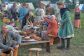 Medieval feast the festival of historical reconstruction of the early middle ages volkhov russia Stock Photos