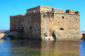 Medieval fortification of pafos bay cyprus Royalty Free Stock Photography