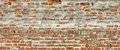 Medieval Fortress Brick White Red Wall Rough Grunge Texture Royalty Free Stock Photo
