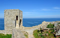 Medieval fortress on cape kaliakra black sea bulgaria Royalty Free Stock Photography
