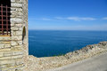Medieval fortress on Cape Kaliakra Royalty Free Stock Photo