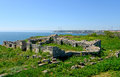 Medieval fortress on cape kaliakra black sea bulgaria Royalty Free Stock Image