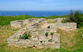 Medieval fortress on cape kaliakra black sea bulgaria Stock Photo
