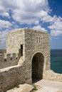 The medieval fortress on cape Kaliakra, Bulgaria Royalty Free Stock Photo