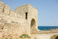 The medieval fortress of Cape Kaliakra Royalty Free Stock Photo