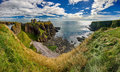 Medieval fortress Dunnottar Castle (Aberdeenshire, Scotland) Royalty Free Stock Photo