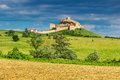 Medieval fortress in rupea brasov transylvania romania fortification on a hill europe Stock Photos