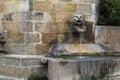 Medieval fountain village Royalty Free Stock Photo
