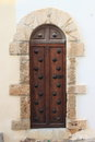 Medieval front door wooden style Royalty Free Stock Photography