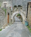 Medieval gate city walls rocamadour france Stock Photography