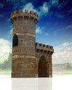 Medieval gate and guard tower Stock Photography