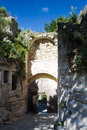 Medieval gate of les baux de provence france Stock Images