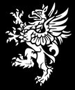 Medieval heraldic griffin element use crest imagery Royalty Free Stock Photos