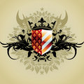 Medieval heraldic shield Royalty Free Stock Images