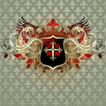 Medieval heraldic shield Royalty Free Stock Photos