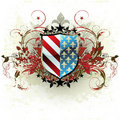 Medieval heraldic shield Stock Photo