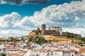 Medieval hilltop castle of Arraiolos. Royalty Free Stock Photo