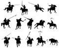 Medieval horsemen Royalty Free Stock Photo