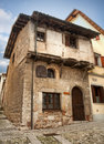 Medieval house in Cividale del Friuli Royalty Free Stock Photo