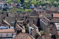 Medieval House Rooftops in Sighisoara, Romania Royalty Free Stock Photo