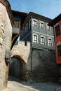 Medieval houses of old center in Plovdiv,Bulgaria Stock Image