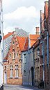 Medieval houses on streets of Bruges Royalty Free Stock Photo