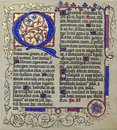 Medieval illuminated manuscript calligraphy in Stari Grad Royalty Free Stock Photo