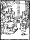 Medieval ink illustration