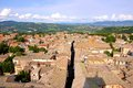 Medieval italian town view over the old of orvieto italy Stock Photography
