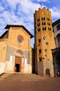 Medieval italian village church of sant andrea in orvieto italy Stock Images