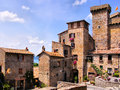 Medieval italy towers of the neighborhood of bolsena Stock Photography
