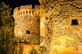 Medieval Kalemegdan fortress at night. Belgrade, Serbia Royalty Free Stock Photo