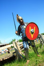 Medieval knight in full armor Royalty Free Stock Image