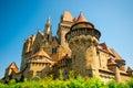 The medieval Kreuzenstein castle in Leobendorf village Royalty Free Stock Photo