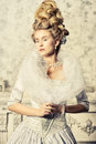 Medieval lady Royalty Free Stock Photo