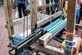 Medieval loom (rear view) Royalty Free Stock Image
