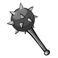 Medieval mace isolated illustration on white background Royalty Free Stock Photos