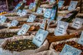 Medieval market of spices Royalty Free Stock Photo