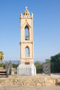 Medieval monastery bell tower agia napa cyprus Royalty Free Stock Photography