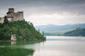 Medieval niedzica castle at czorsztyn lake in poland Royalty Free Stock Images