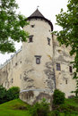 Medieval niedzica castle in poland Royalty Free Stock Images