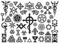 Medieval Occult Signs And Magic Stamps Royalty Free Stock Photo