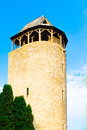 Medieval old stone watch tower Royalty Free Stock Photo