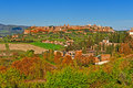 Medieval orvieto town over the tuscany valley italy Royalty Free Stock Photo