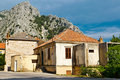 Medieval Pirate City Omis on the River Cetina Stock Photography