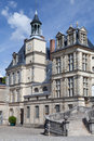 Medieval royal castle Fontainebleau near Paris Stock Photo