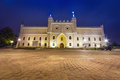 Medieval royal castle in lublin at night poland Royalty Free Stock Photography