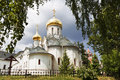 Medieval Savvino Storozhevsky monastery in Zvenigorod, Virgin nativity cathedral , Moscow region, Royalty Free Stock Photo