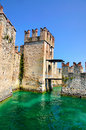 The medieval scaliger castle castello scaligero rocca scaligera in sirmione a small town on the shores of lake garda lago di garda Stock Photography