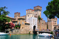 Medieval scaliger castle castello scaligero rocca scaligera sirmione small town shores lake garda lago di garda lombardy italy Royalty Free Stock Photography